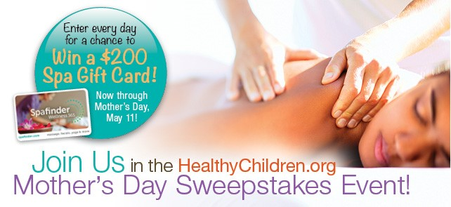 Join Us in the 2-14 HealthChildren.org Mother's Day Sweepstakes Event!