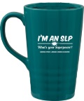 I'm An SLP Large Teal Mug