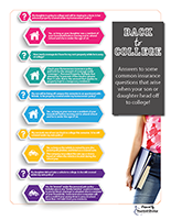 Back to College infographic