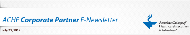 ACHE Corporate Partner E-Newsletter
