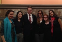Gov. Cuomo and District II Ob/Gyn residents during RAP visit to Albany