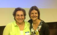 (Left to right) SMI Co-Chairs Cynthia Chazotte, MD and Mary D'Alton, MD