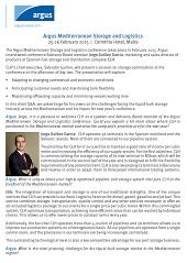 Argus MEditerranean Storage and Logistics - CLH Q&A