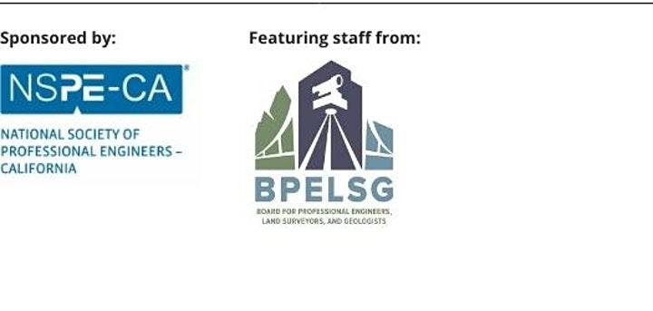 Sponsored by NSPE-CA and BPELSG
