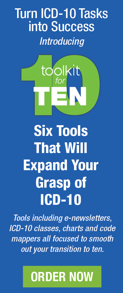 Turn ICD-10 Tasks into Success | Introducing Toolkit for TEN | Six Tools That Will Expand Your Grasp of ICD-10