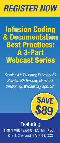 Infusion Coding & Documentation Best Practices: A 3-Part Webcast Series | Register Now!