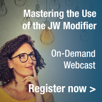 Understand the guidelines for use of the JW modifier and billing of discarded drug waste. | Mastering the Use of the JW Modifier | On-Demand Webcast | Register Now