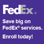 Save big on FedEx services. Enroll today!
