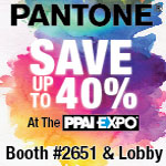 Save up to 40% on Pantone at the PPAI Expo