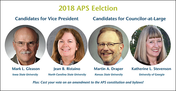 2018 APS Election Candidates